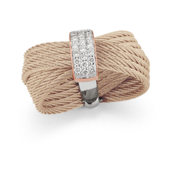 Closeup photo of Carnation Crossed Multi-Cable Ring