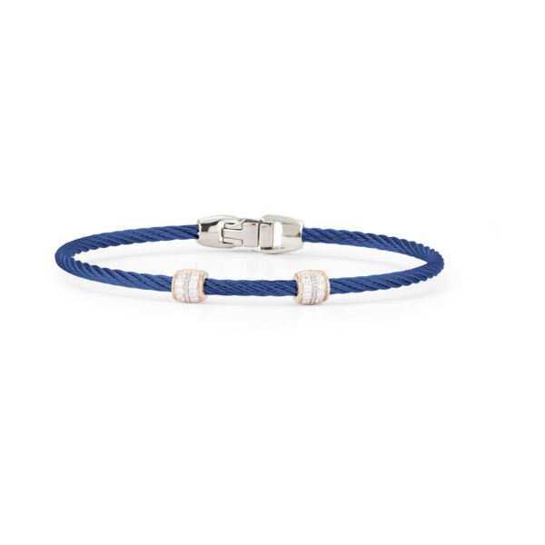 Closeup photo of Blueberry Two Ovaled Station Bangle