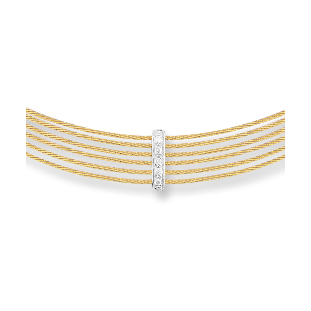 Yellow Diamond Bar Choker