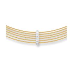 Closeup photo of Yellow Diamond Bar Choker