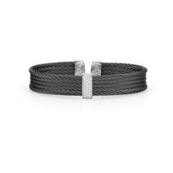 Closeup photo of Noir Four Strand Layered Bangle