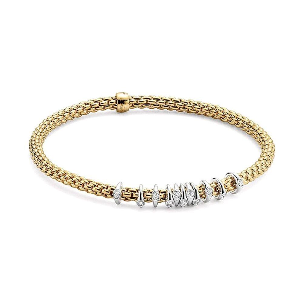 Prima Dew Drop Floating Diamond Rondel Station Bracelet
