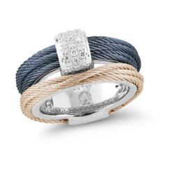 Closeup image for View Rhodium & White Ceramic Lux Bracelet By Pesavento