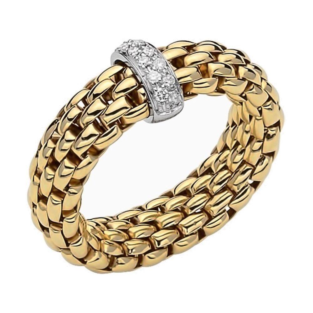 Fope Vendome Ring with Diamonds