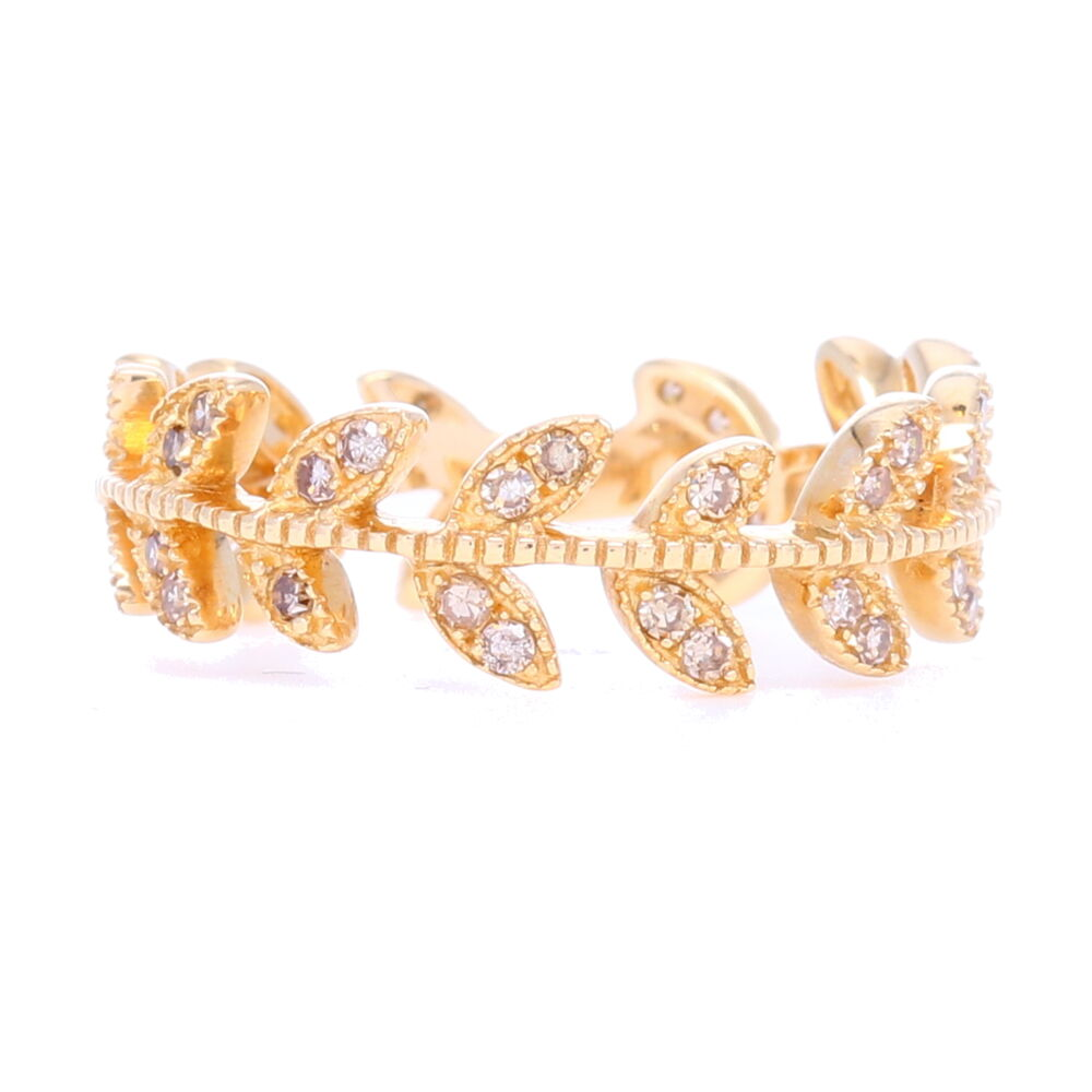 14k Gold Vine Eternity Band/Stack Ring