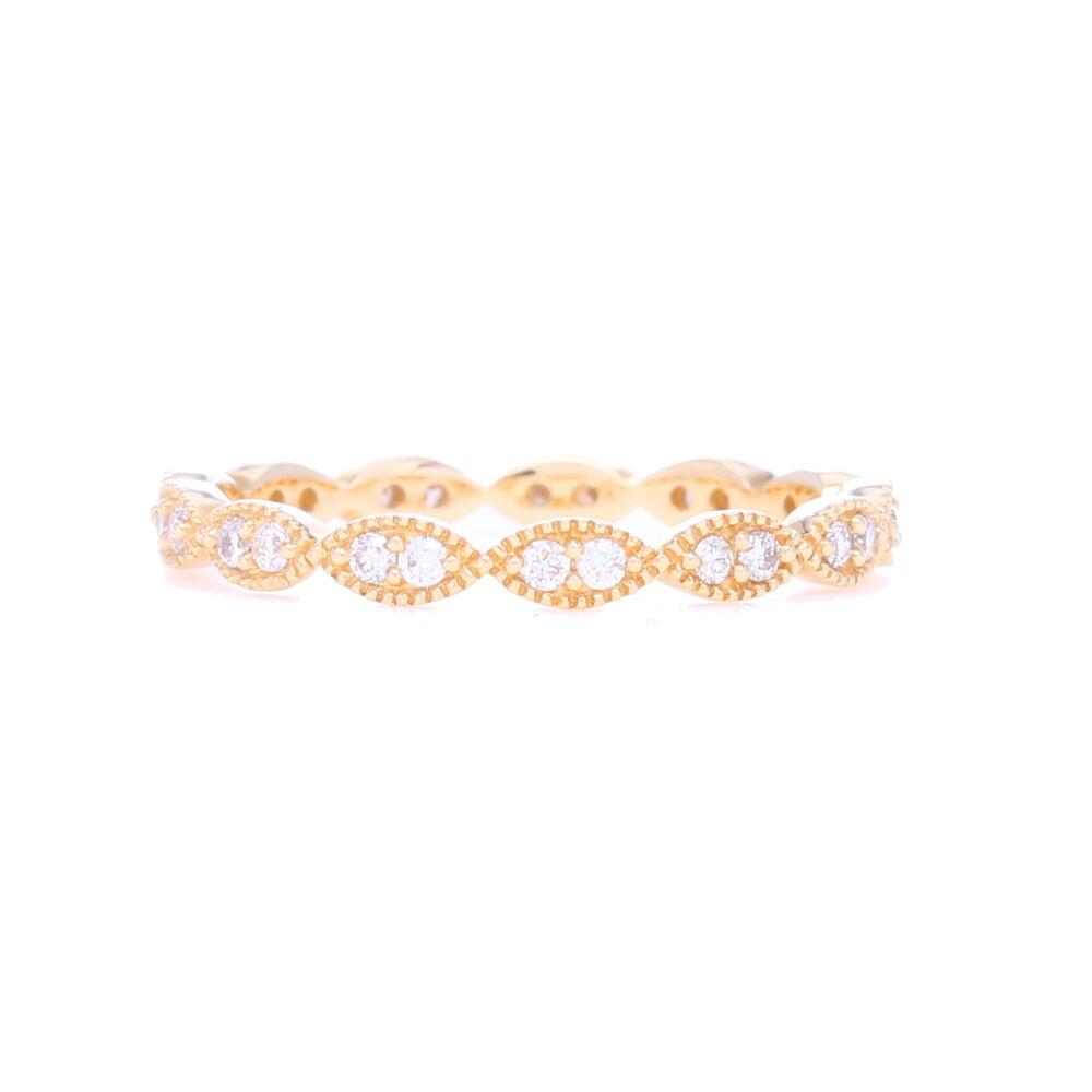 Marquise Shaped Diamond Eternity Band 14k Gold