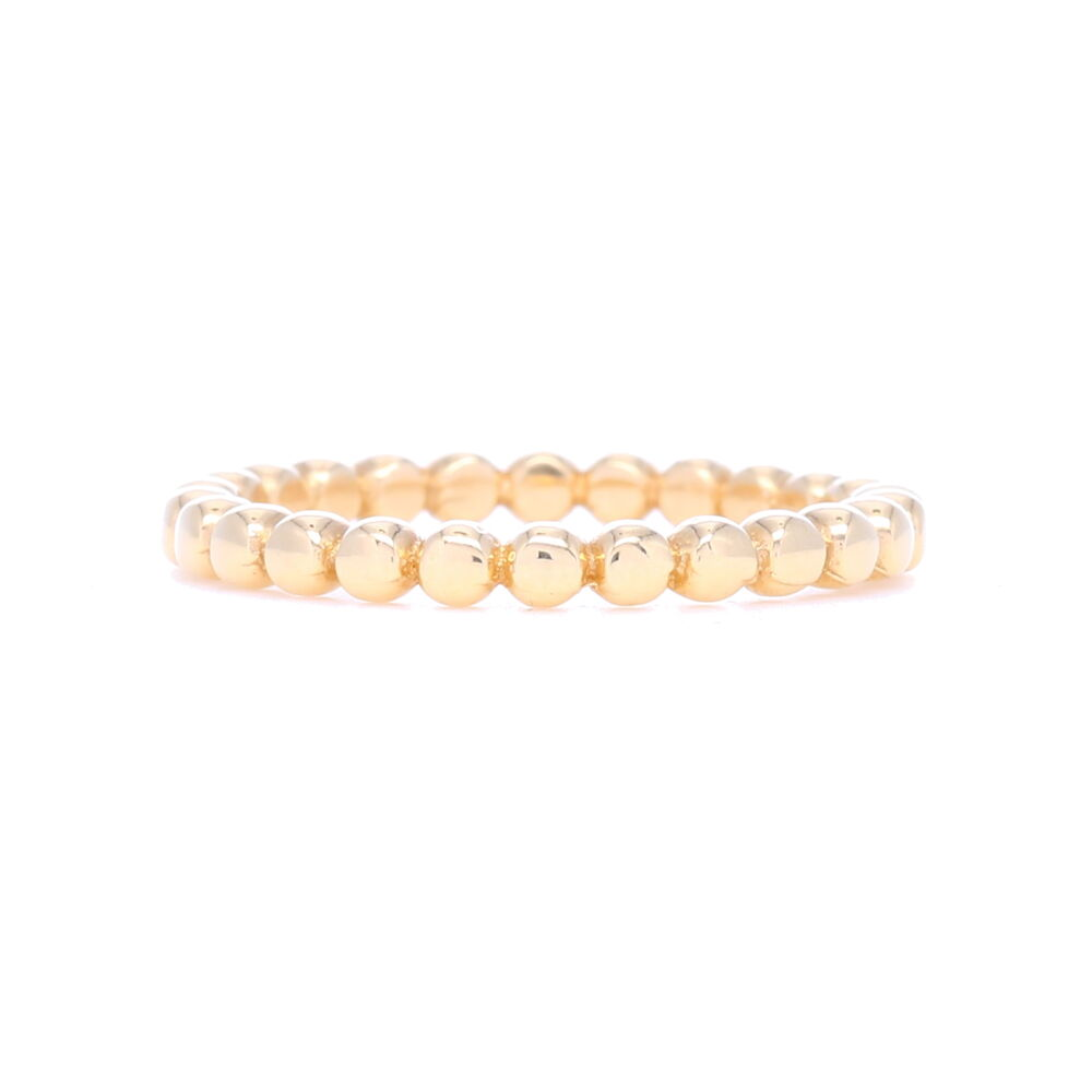 14k Gold Dot Ball Eternity Stack Ring