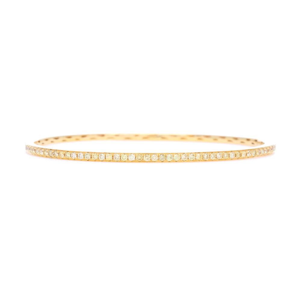 18k Yellow Gold Yellow Diamond Bangle