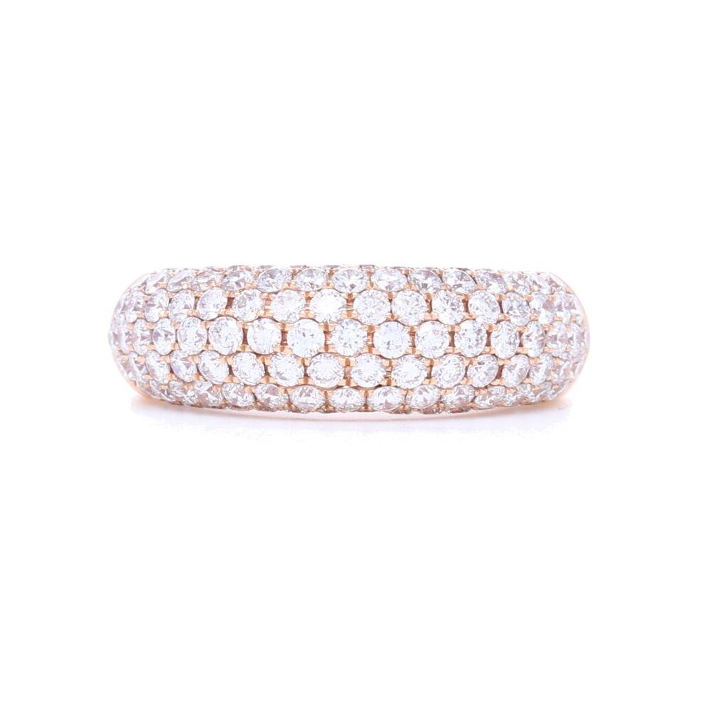 18k Rose Gold Pave Diamond Ring