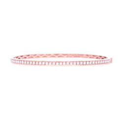 Closeup photo of Rose Gold Diamond Eternity Bracelet