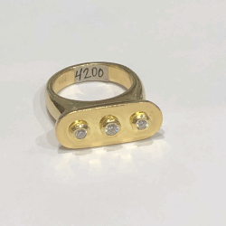 Closeup image for View 18K Yellow Gold Ring - 13429 By Armenta