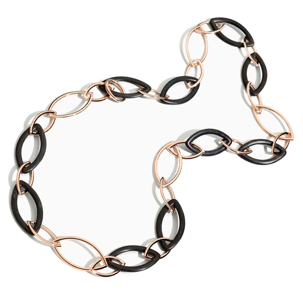 Chain Rose Gold Ebony with Clasp