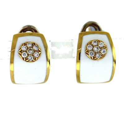 Collection: Old World Style #: 11639 Description: Old World blackened sterling silver/18k yellow gold pointed oval electroform crivelli drop earring with champagne diamonds. Diamond Weight 0.06ct