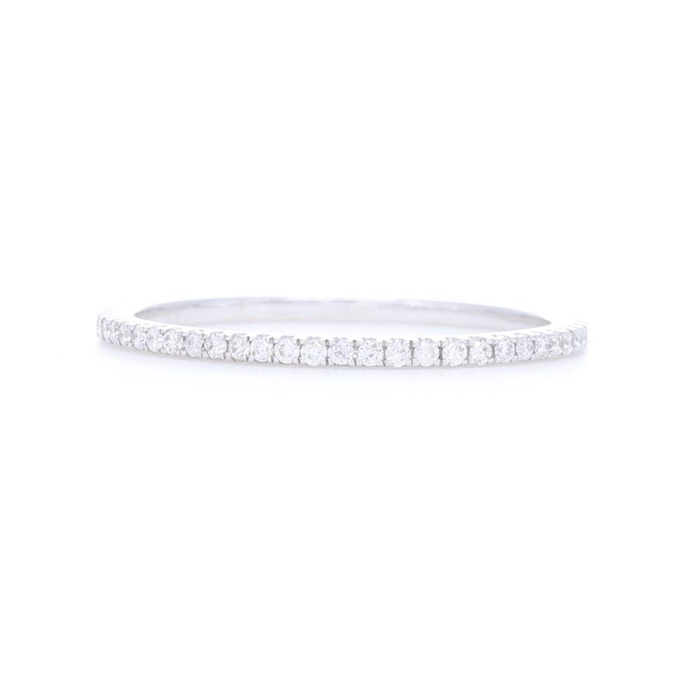 18k White Gold White Diamond Ring