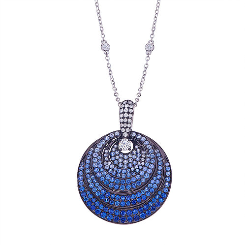 Pave Three Layered Pendant