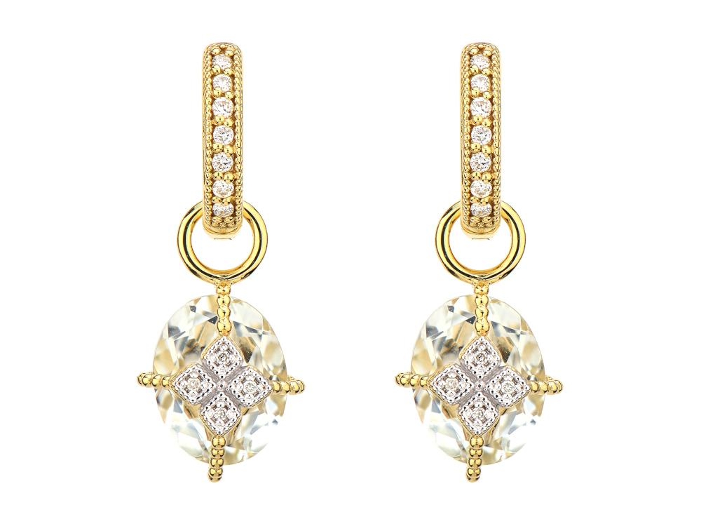 Lisse Oval Stone Lacey Kite Earring Charms