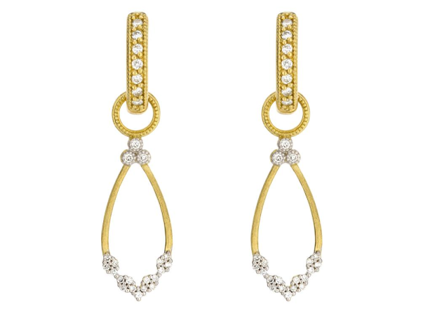 Closeup photo of Provence Champagne Open Pear Bezel Earring Charms