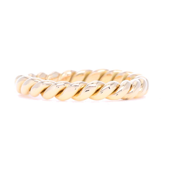 Closeup photo of Handcrafted Twist Ring 14k Gold