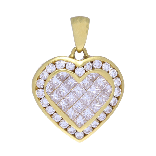 Closeup photo of Diamond Heart Pendant