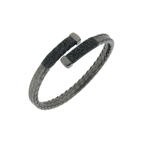Closeup photo of Crossover Braided Polvere Cuff Ruthenium Dark Gray Polvere