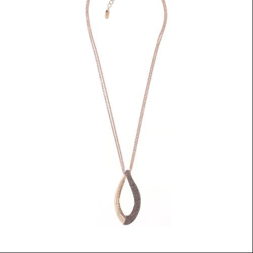 Split Twist Polvere Pendant Necklace Rose Gold Antelope Polvere