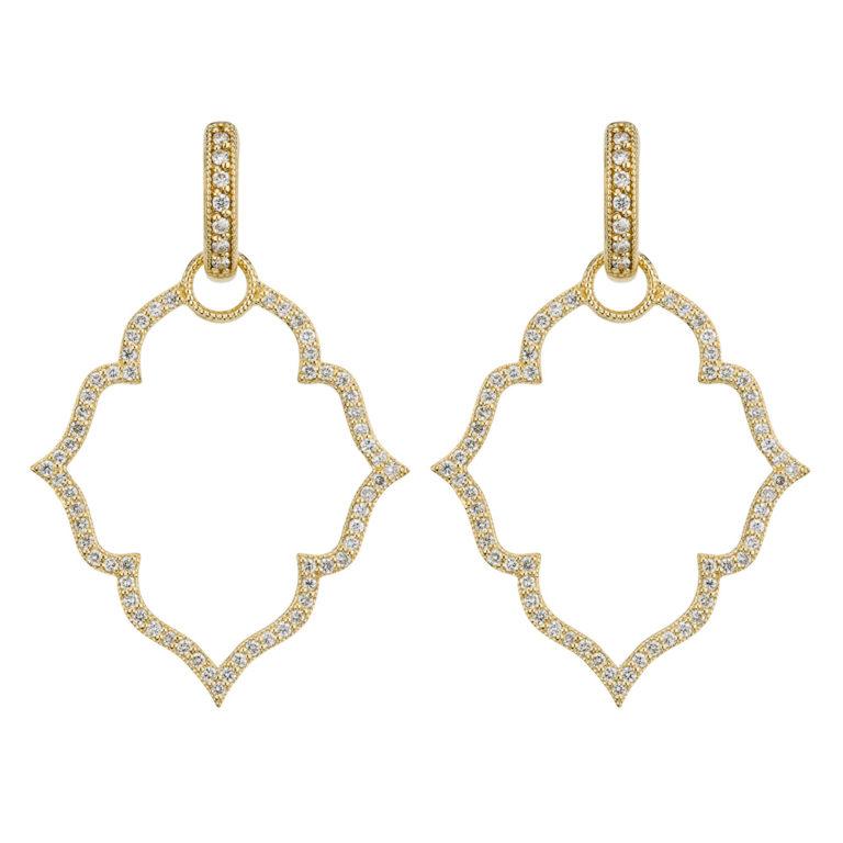 Michelle Flower Pave Earring Charm Frames