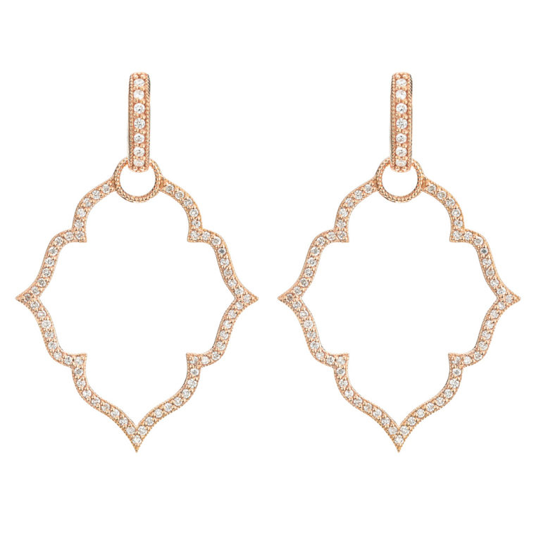 Image 2 for  Michelle Flower Pave Earring Charm Frames