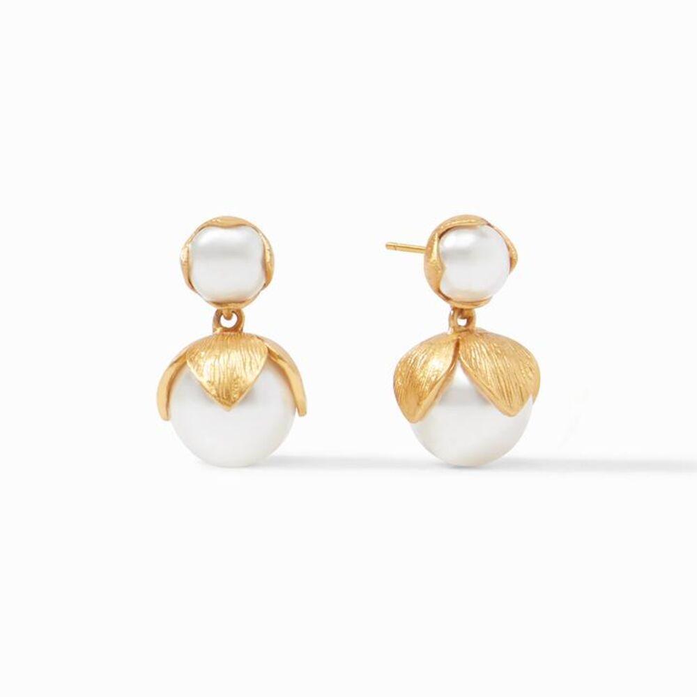 Penelope Midi Earring Gold Pearl