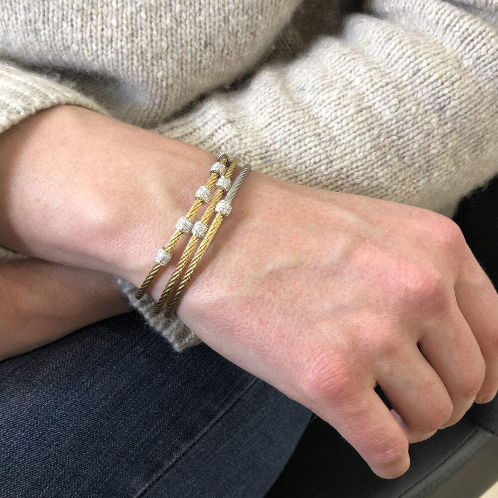 Yellow Five Station Bangle