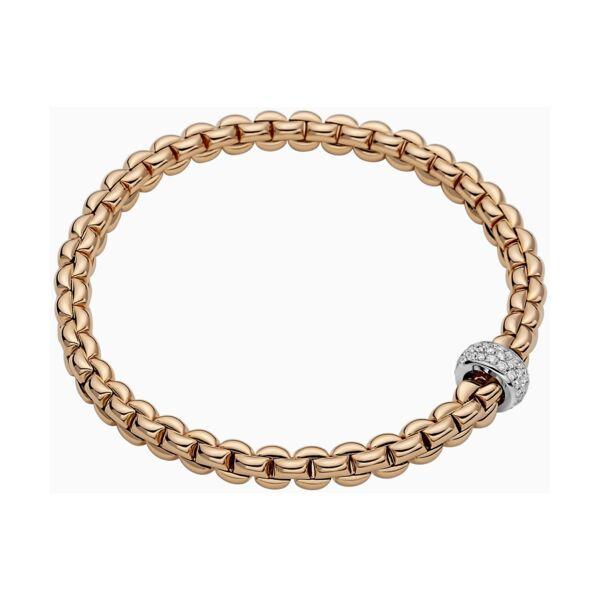 Closeup photo of Flex'it Bracelet with Pave Diamond Rondel
