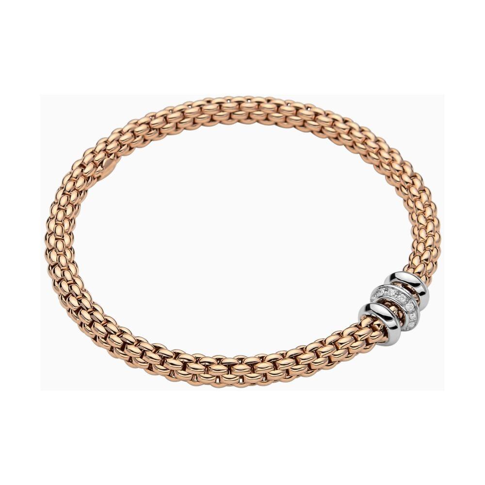18k Gold Flex'it bracelet with Diamonds