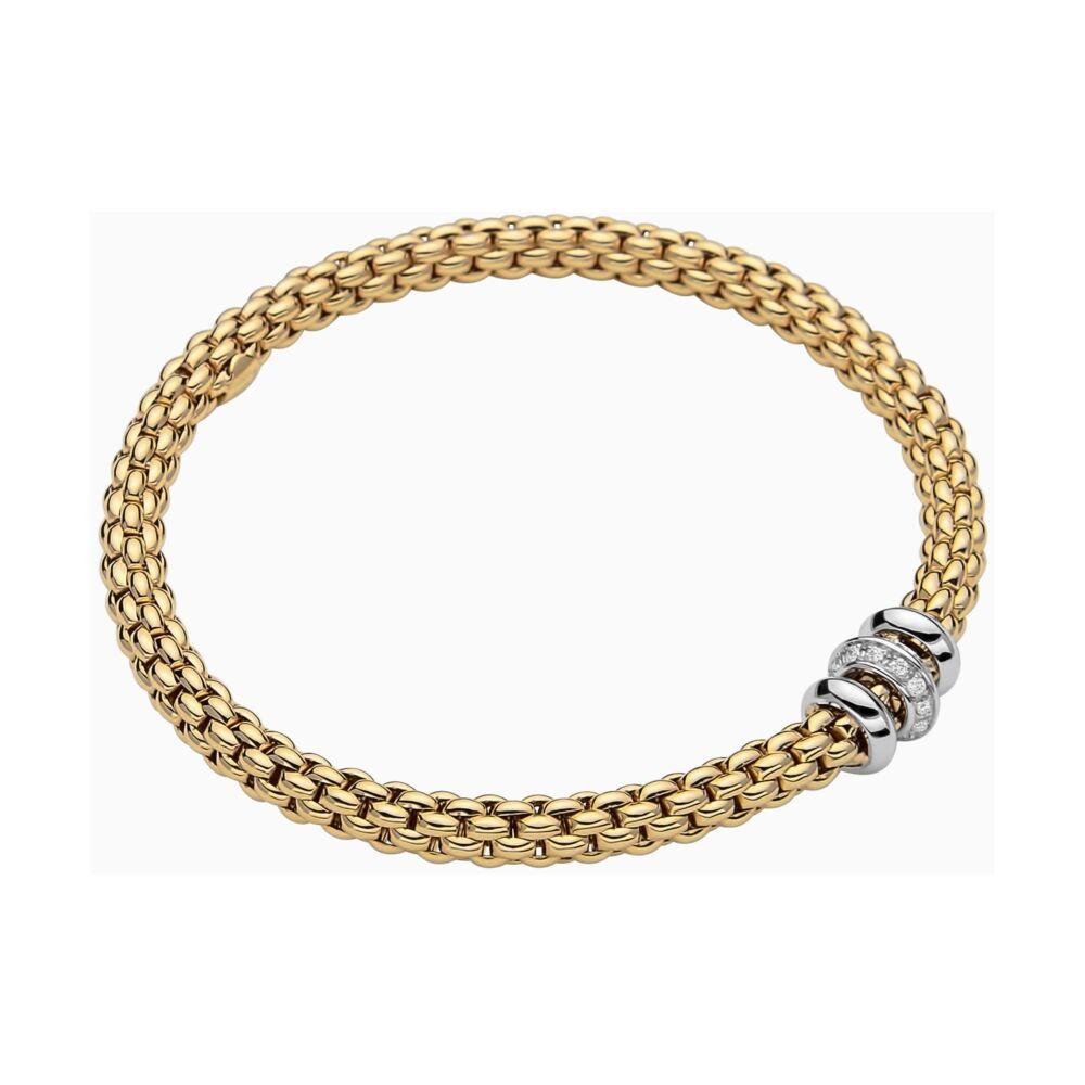 Image 2 for 18k Gold Flex'it bracelet with Diamonds