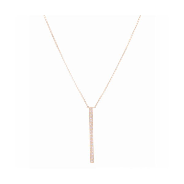 Closeup photo of Vertical Bar Layering Necklace 14k Gold with Diamonds